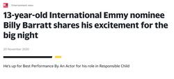 BILLY BARRAT X EMMY AWARD WINNING ACTOR_ ENTERTAINMENT NEWS