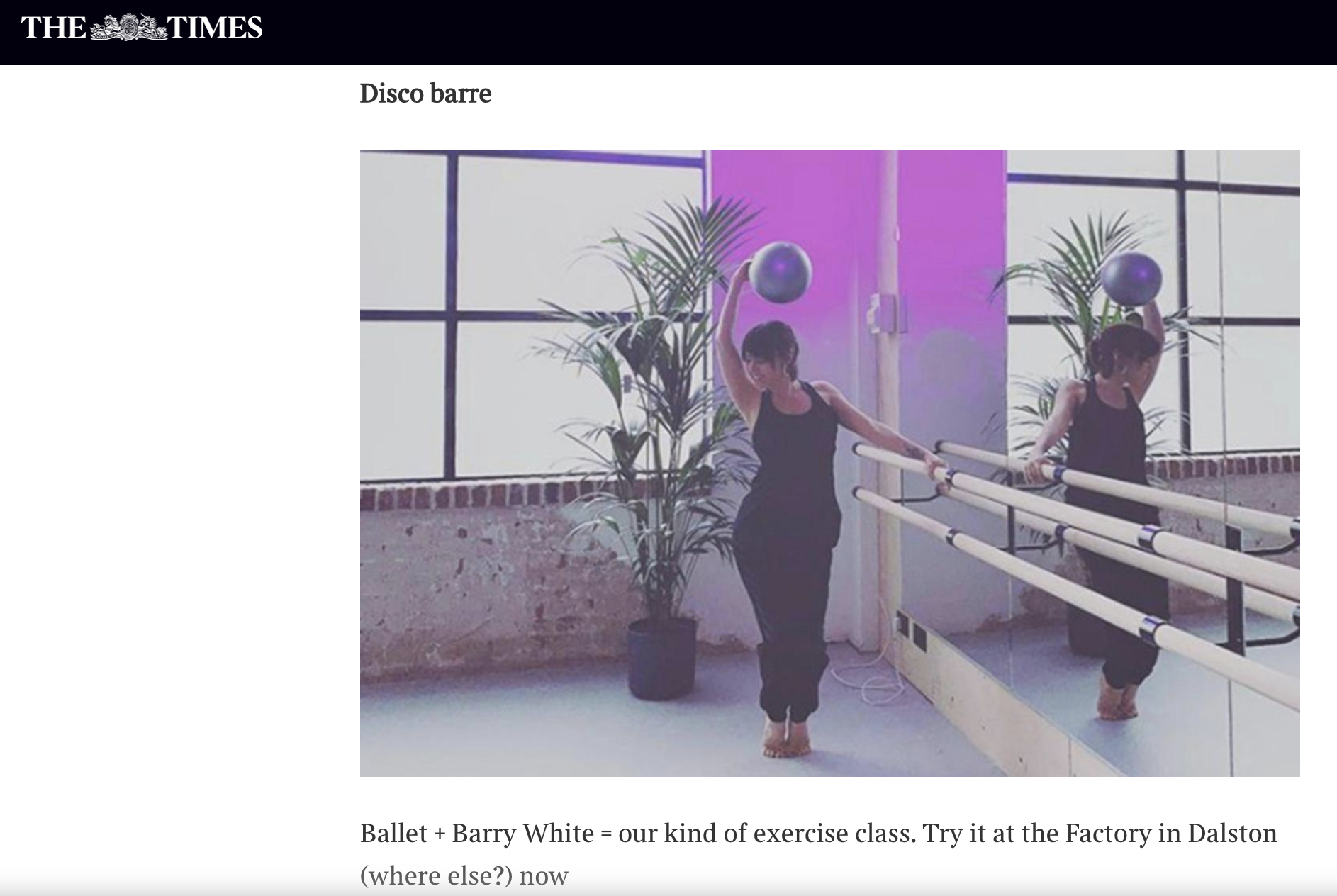 DISCO BARRE X THE TIMES