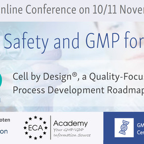 Cell by Design® presentation on ECA – Quality, Safety and GMP for ATMP e-conference