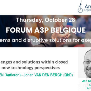 Join Antleron & QbD at 'Closed Systems: Disruptive solution for Aseptic Processes' Forum A3P Belgium