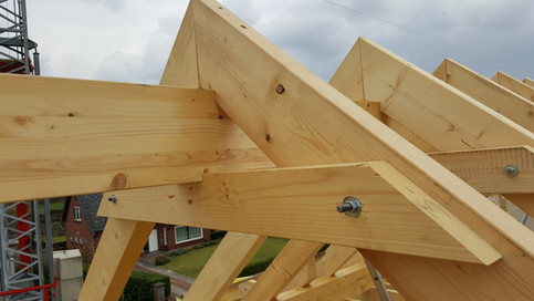 1c dakconstuctie houtskeletbouw met KVH