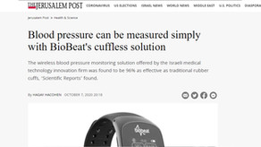Blood pressure can be measured simply with Biobeat's cuffless solution