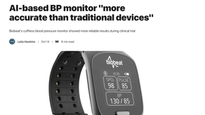 "AI-based BP monitor ""more accurate than traditional devices"""