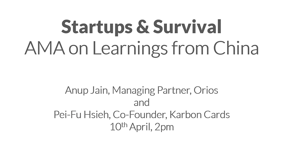 OLD-event Startups & Survival: AMA on Learnings from China