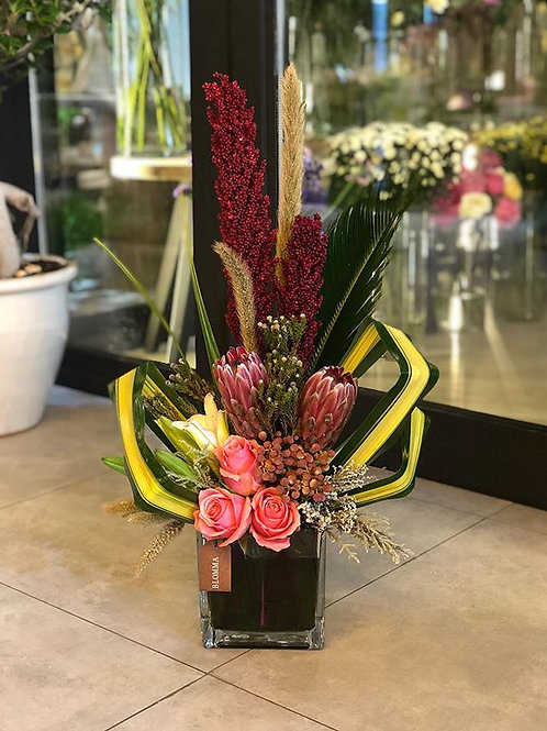 exotic flower arrangement