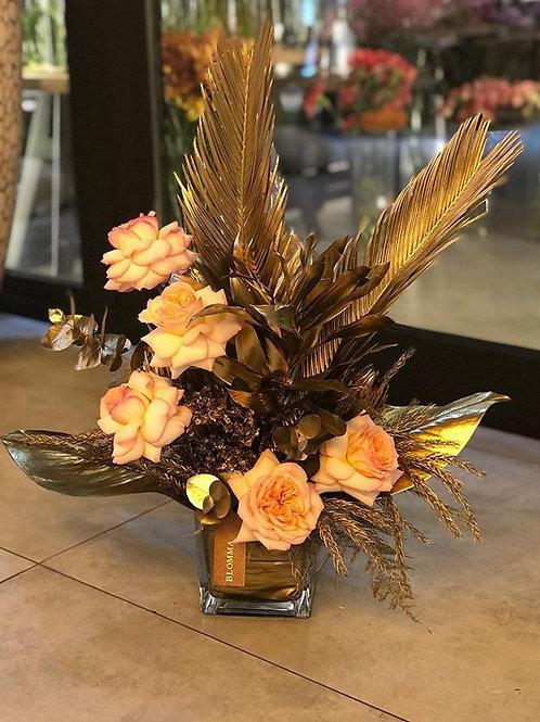 Gold flowers arrangement