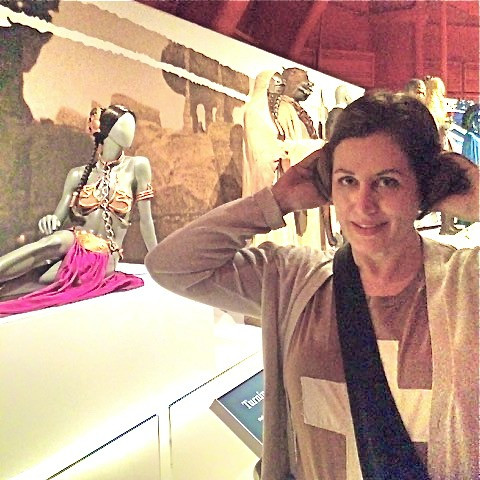 Channeling my inner Princess Leia at the Star Wars Costume Exhibit at Seattle's EMP Museum in 2015