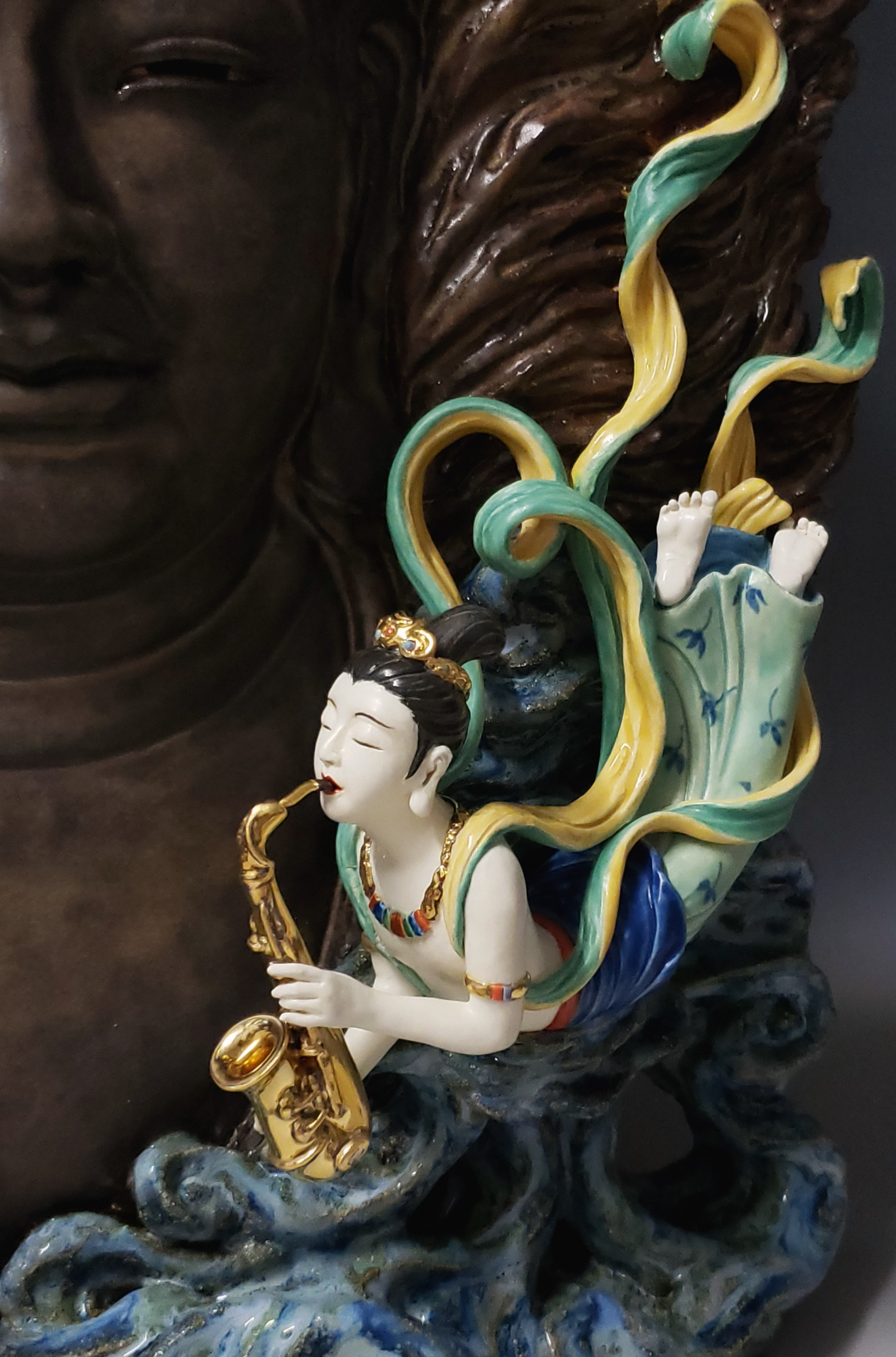 Feitian with Saxophone (Detail)