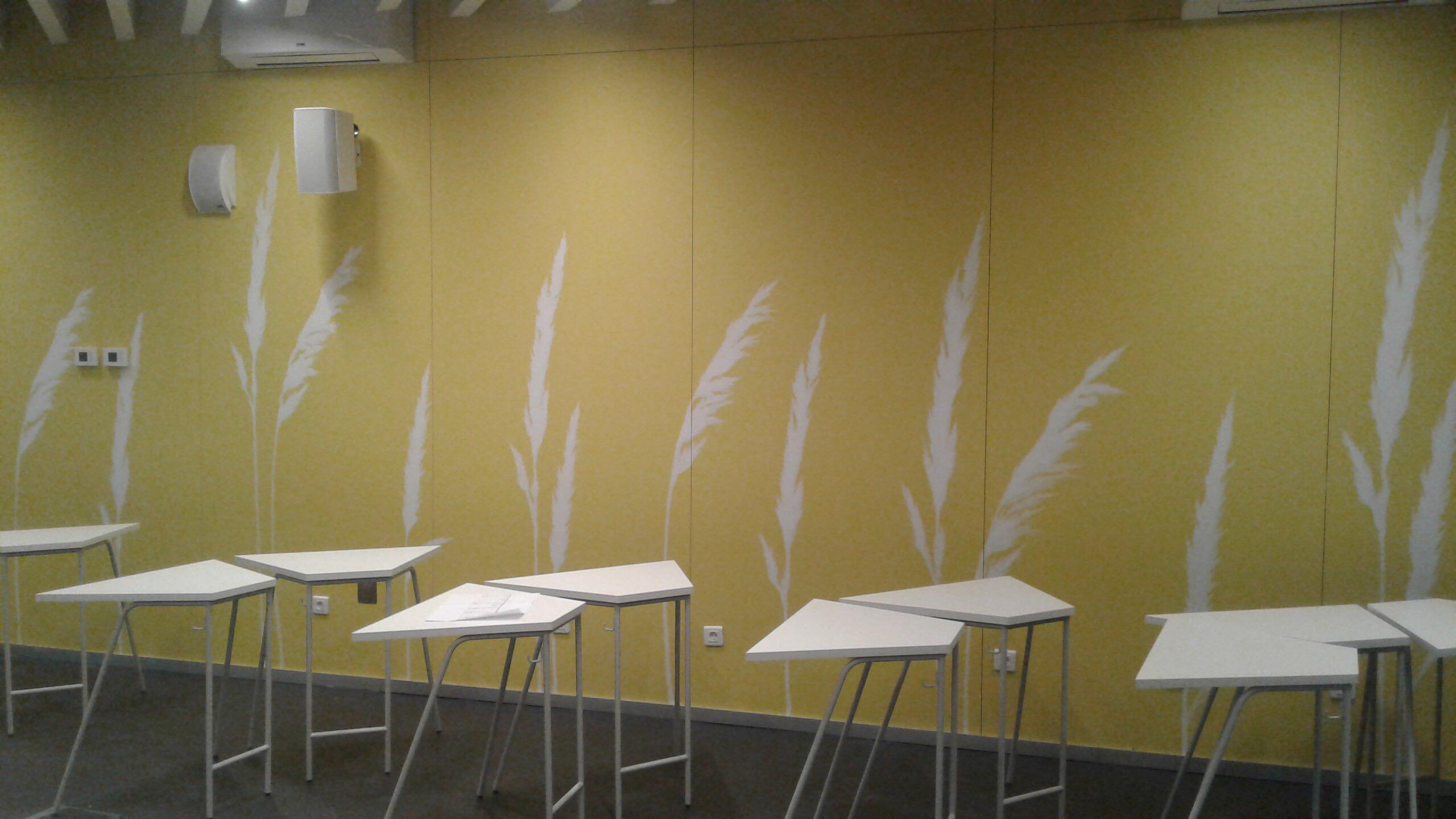 роспись стен в столовой