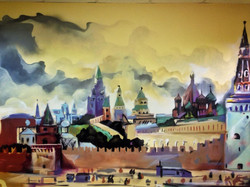 граффити с видом на Кремль