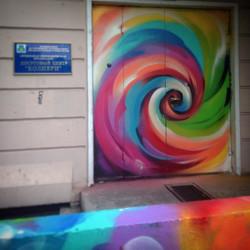 входная группа в граффити