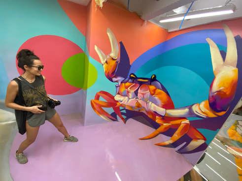 Зд иллюзия в бразильском музее граффити