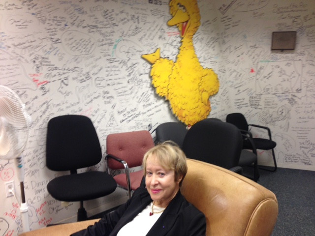 Marilyn in the KQED Talent Room