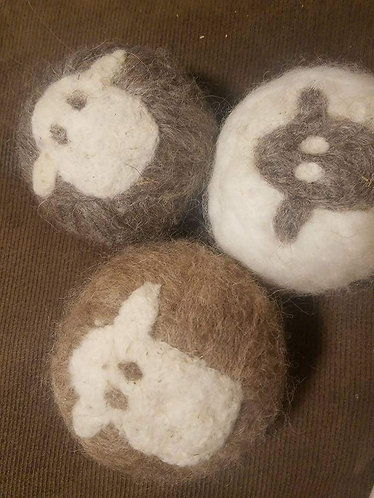 Handmade Icelandic Wool Dryer Balls.