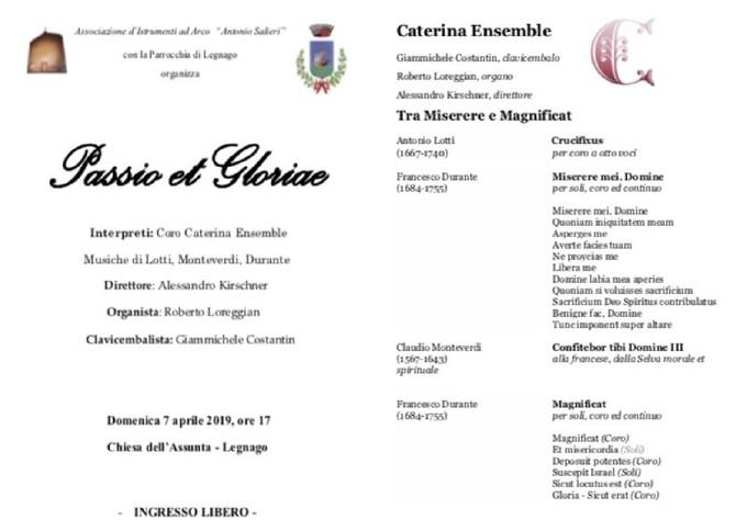 PASSIO E GLORIAE - DOMENICA 7 APRILE