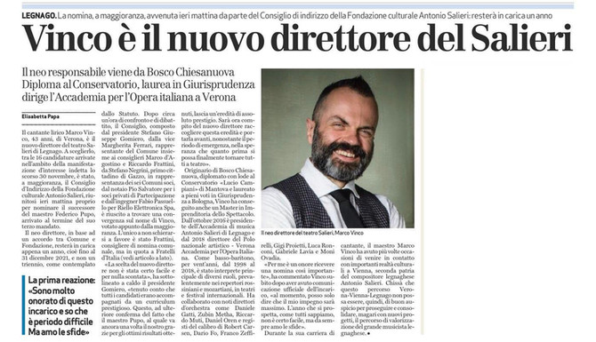 Nuovo direttore Teatro Salieri