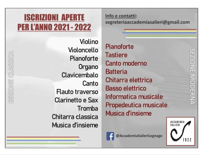 Iscrizioni aperte anno 2021-2022