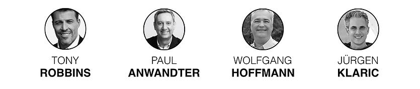 Mentores Tony Robbins Paul Anwandter Wolfgang Hoffmann Jürgen Klaric