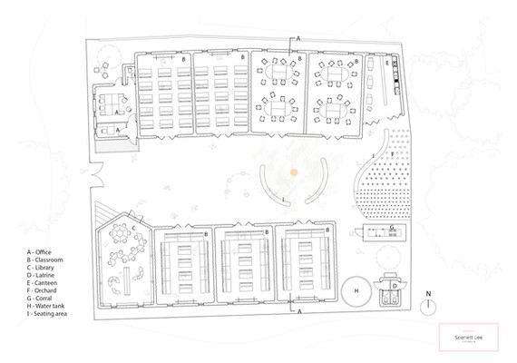 Plan of Senegal Elementary School 'Weave'