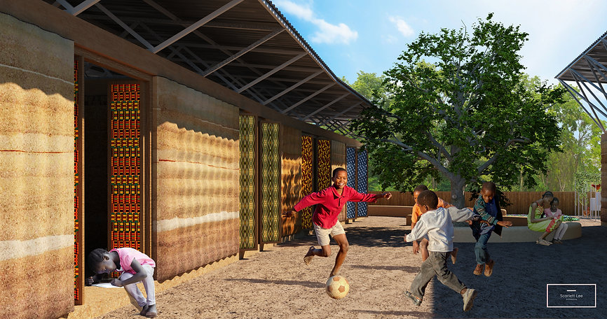 Weave, Senegal Elementary School, Fabric formed rammed earth, fabric formwork, flood-resilient earth construction technology, earth architecture, sustainable architecture with local materials