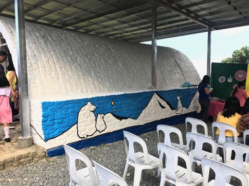 Renovated exterior wall