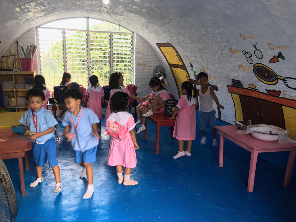 Children were excited at the refurbished igloo