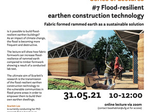 Flood-resilient Earthen Construction Technology Lecture at the University of Art and Design Linz