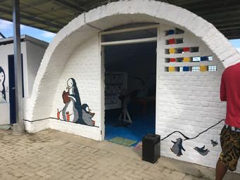 Renovated entrance