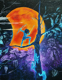 Tarzan Rescues the Moon oil painting