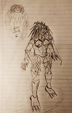 Initial sketch of the monster