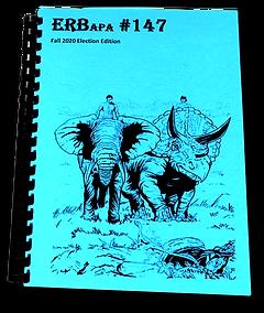 ERB-APA #147, Cover art by James W. McGurk,  Includes ECOF: Fort Atkinson, WI 2020 by Chris L Adams