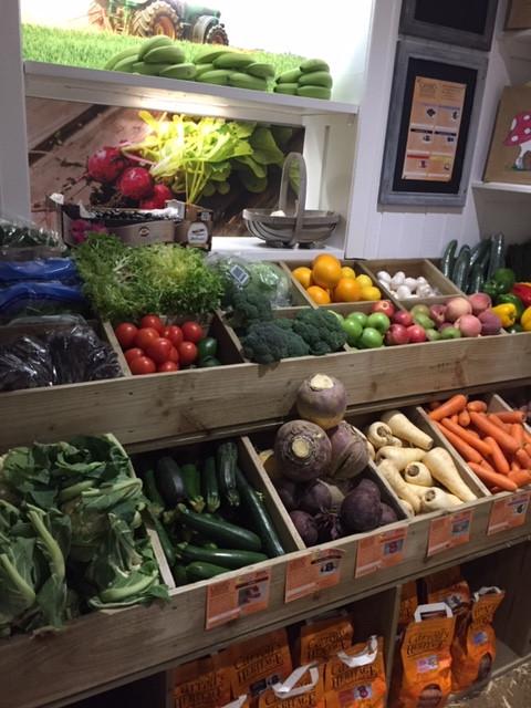 Our fruit & veg shelves (Hawick Store)