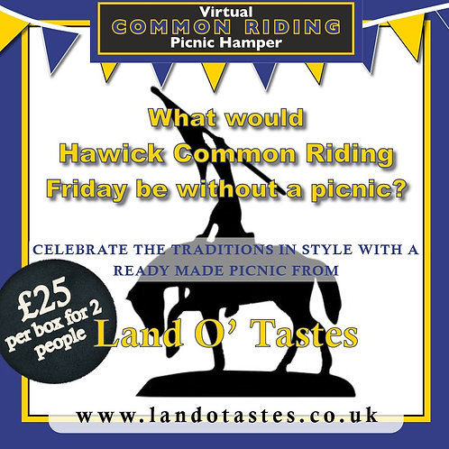 """""""Virtual"""" Common Riding Friday Ready Made Picnic Hamper for 2 People"""