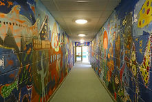 Stirches Primary School painted walls