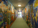 Stirches Primary School painted corridor