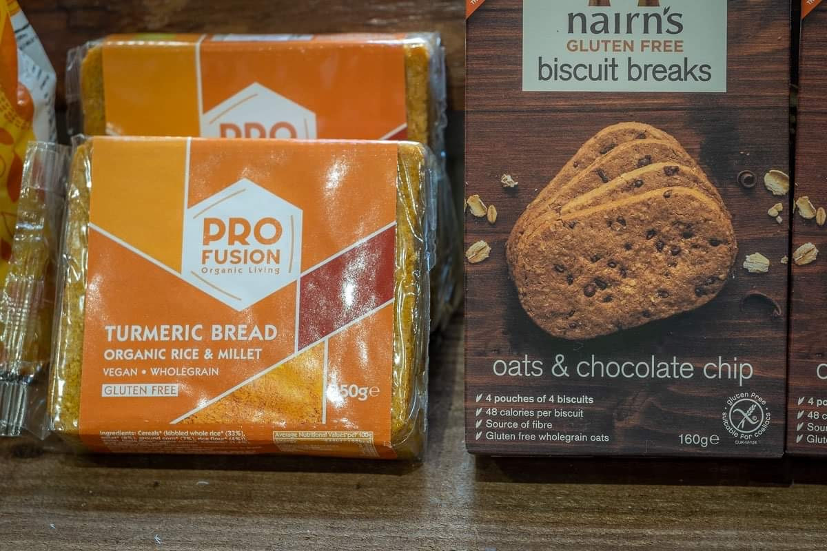 Turmeric Bread and Oats & Choc Chip Biscuits