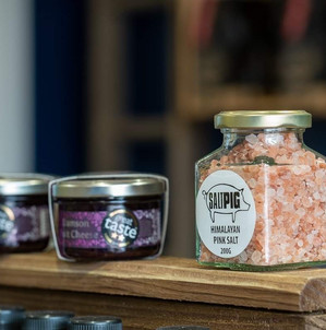 Salt Pigs and Claires Preserves Selection