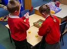 Stirches Primary School pupils working