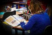Stirches Primary School pupil working
