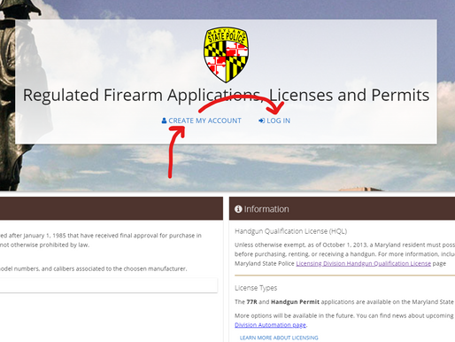 Application: Maryland Permit to Carry a Handgun, Business Owner