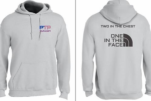 Two in Chest, One in Face Hoodie (Gray)