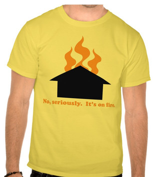 The roof, the roof, the roof is on fire...