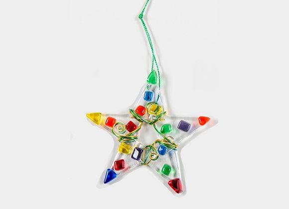 """3"""" Diameter  Multiple Color Christmas Stars"""