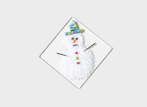 "3"" Winter Snowman Party Hats Ornament - Blue Yellow"