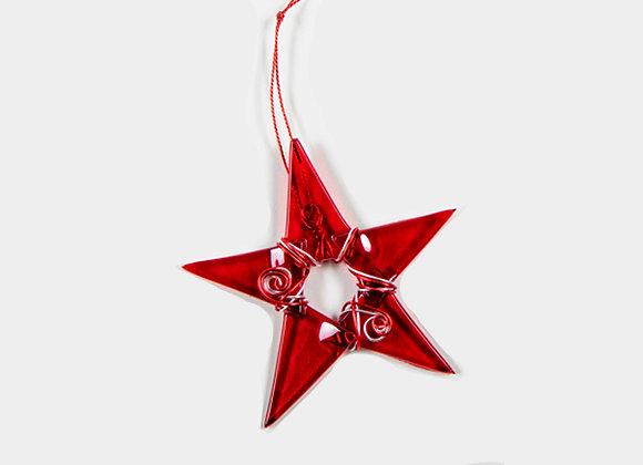 "3"" Diameter Red Christmas Star"