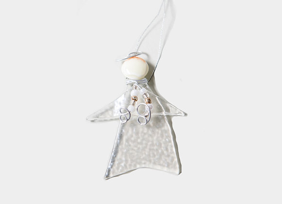 """3"""" Winter Clear  White Angel Ornament"""