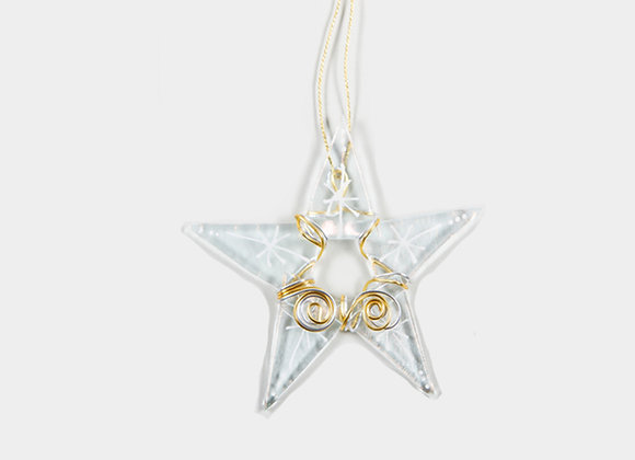 "3"" Diameter  Clear Gold Christmas Star"