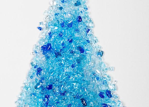 """6""""X4""""  Blue Christmas Trees Ornament"""
