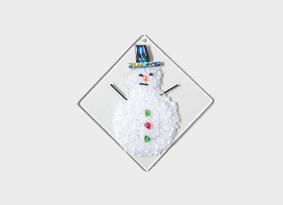 "3"" Winter Snowman Party Hats Ornament - Dark Blue"