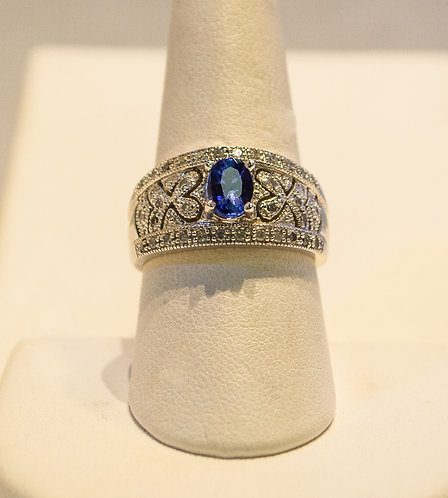 14K Tanzanite Diamond Ring